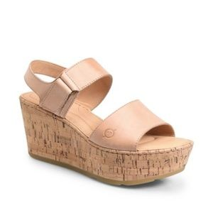 Born Mae Platform Wedge Sandals Light Pink Blush